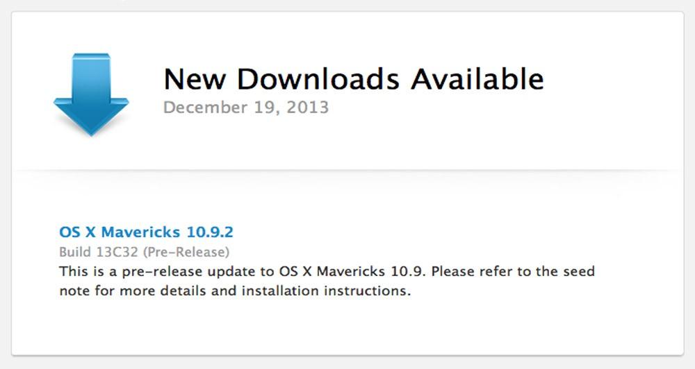 Διαθέσιμο το νέο update της Apple, για το OS X Mavericks