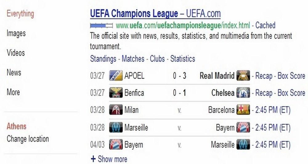 Από το Google για ποδοσφαιρόφιλους μόνο
