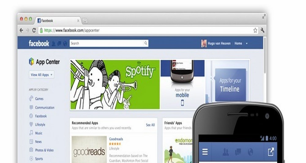 AppCenter και στο Facebook