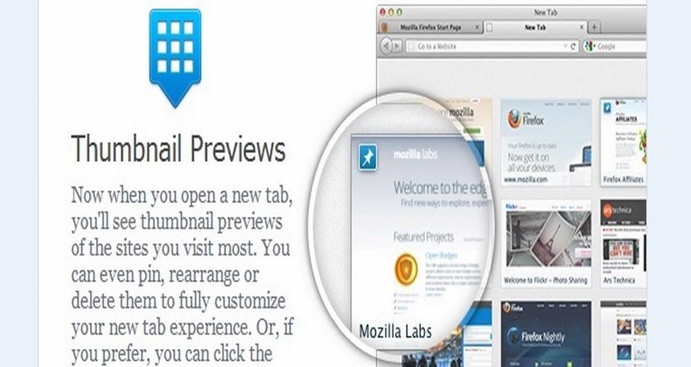 Η νέα tab σελίδα του Firefox