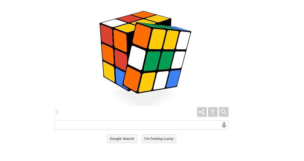 Ο διάσημος Κύβος του Ρούμπικ στο Google