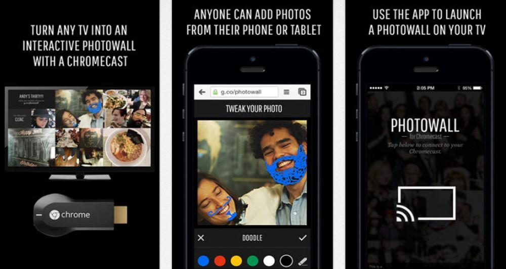 Photowall, image gallery από το Chromecast