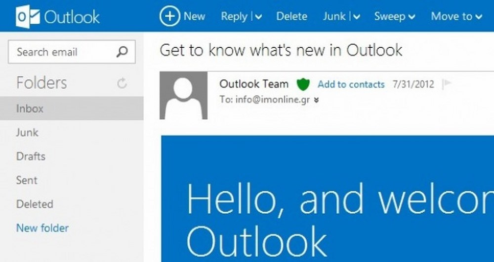 Outlook.com και η Microsoft πάει μπροστά