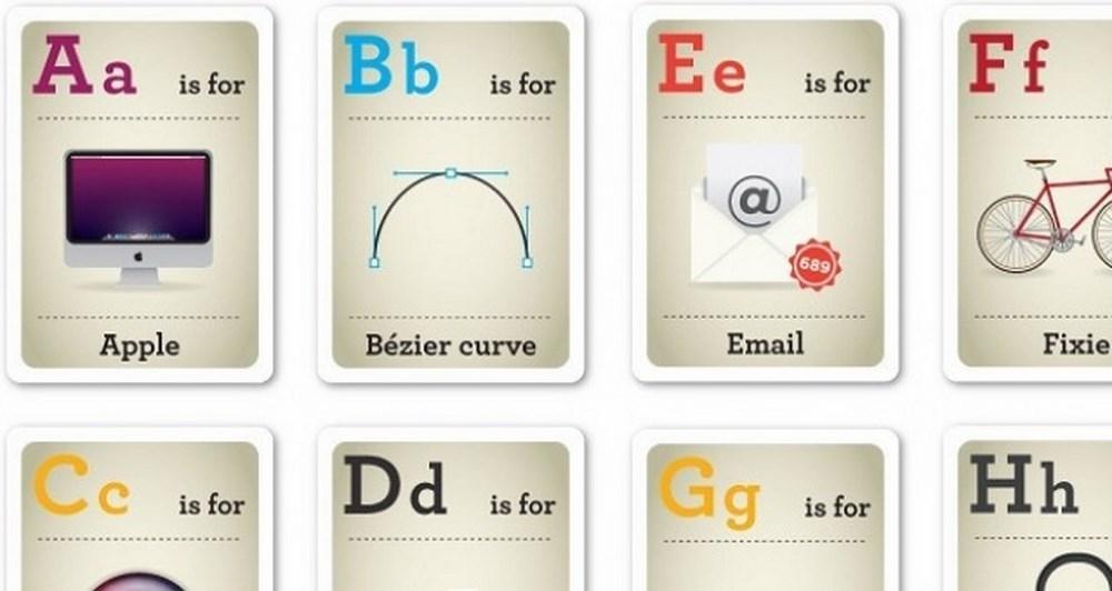 Διδάξτε τη geeky αλφάβητο