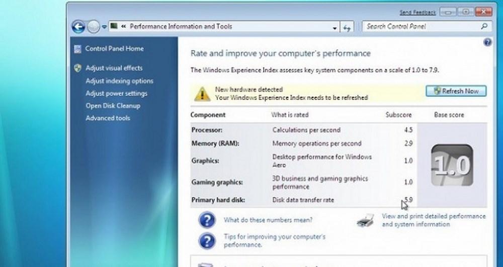 Τι είναι το Windows Experience Index;