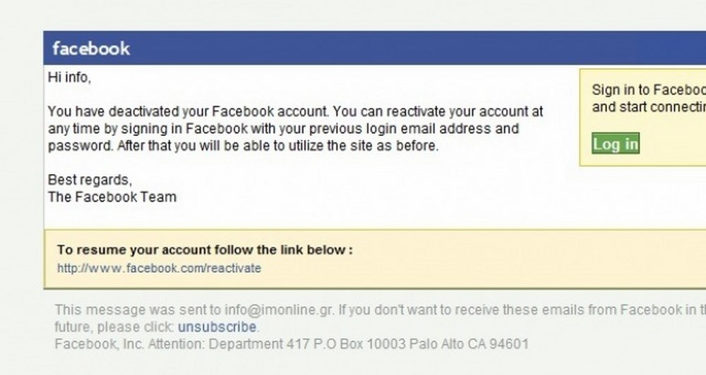 Phishing επιθέσεις και στο Facebook