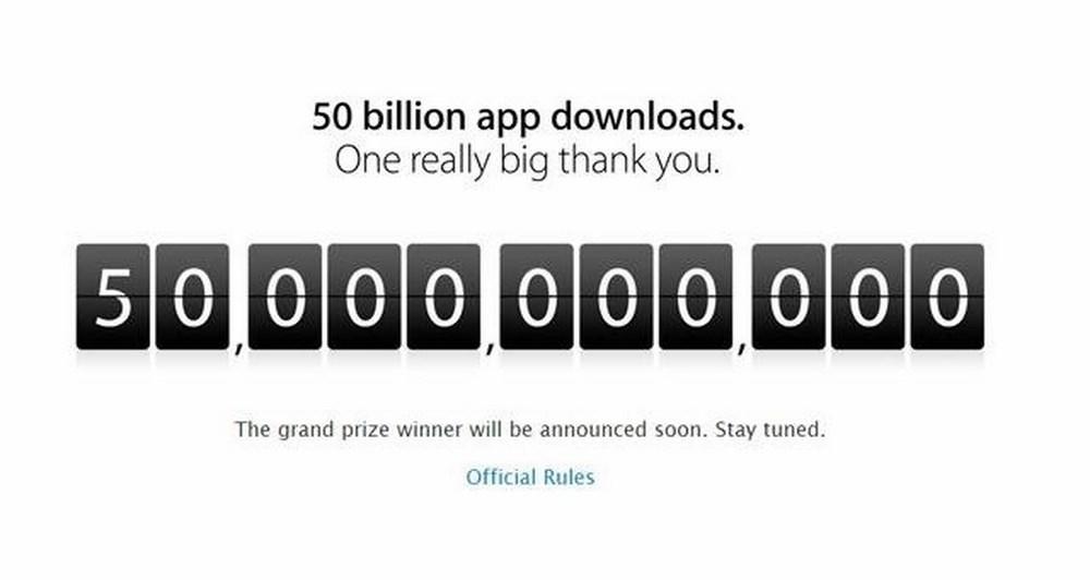 Apple's App Store: Κατέβηκαν πάνω από 50 δισεκατομμύρια εφαρμογές!