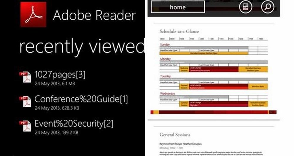 Adobe Reader app για Windows Phone 8