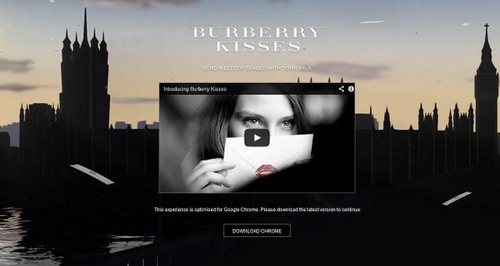 Νέα καμπάνια από Burberry και Google, Burberry Kisses!
