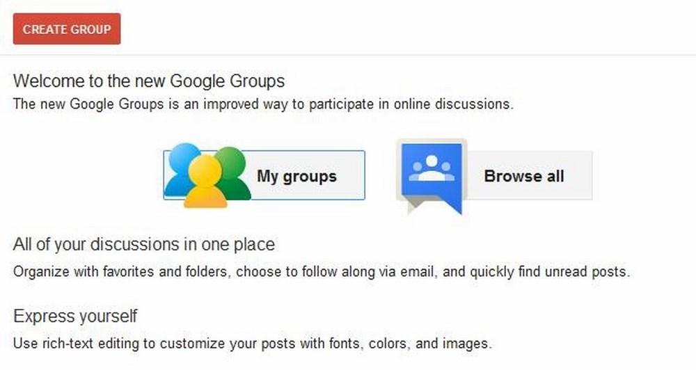 New Google Groups για όλους