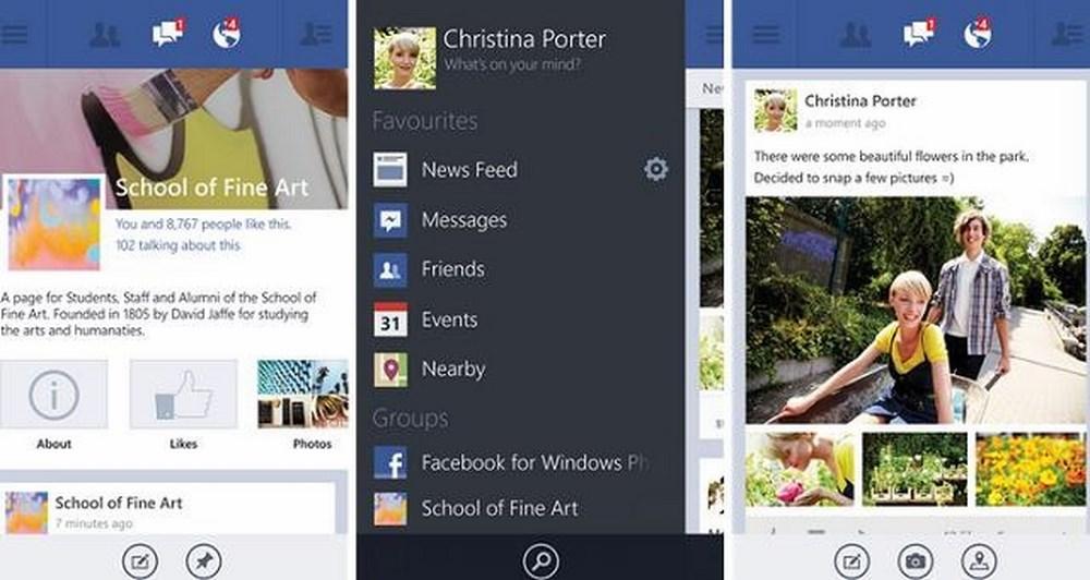 Facebook 5.0 για Windows Phone 8
