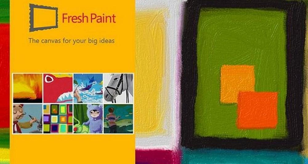 Fresh Paint app στα Windows 8.1 και Windows phone