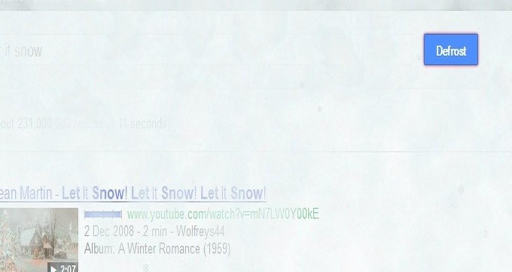 Το google εύχεται let it snow