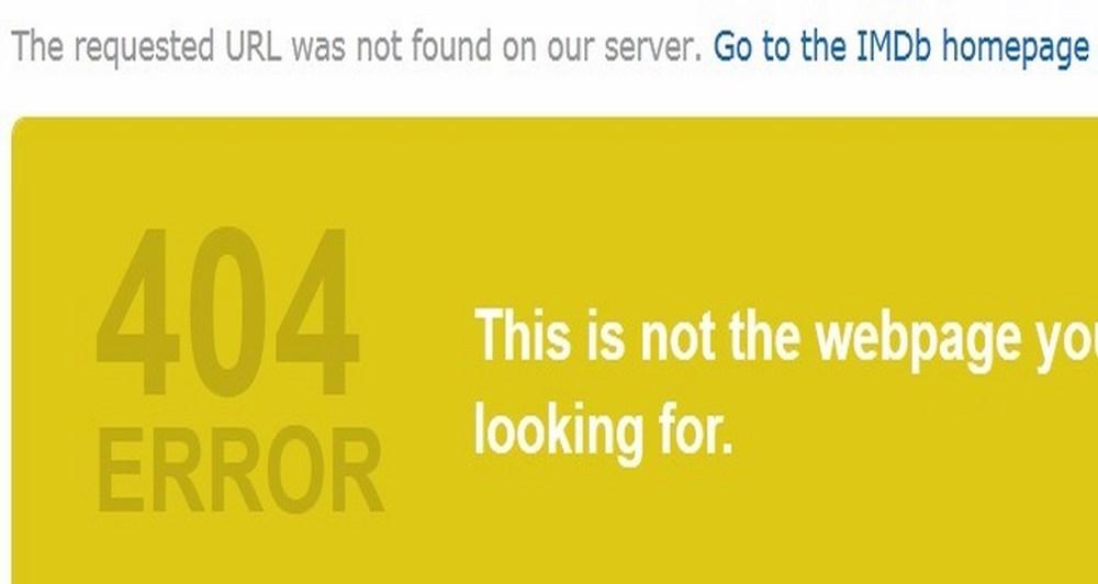 404 Error και IMDb