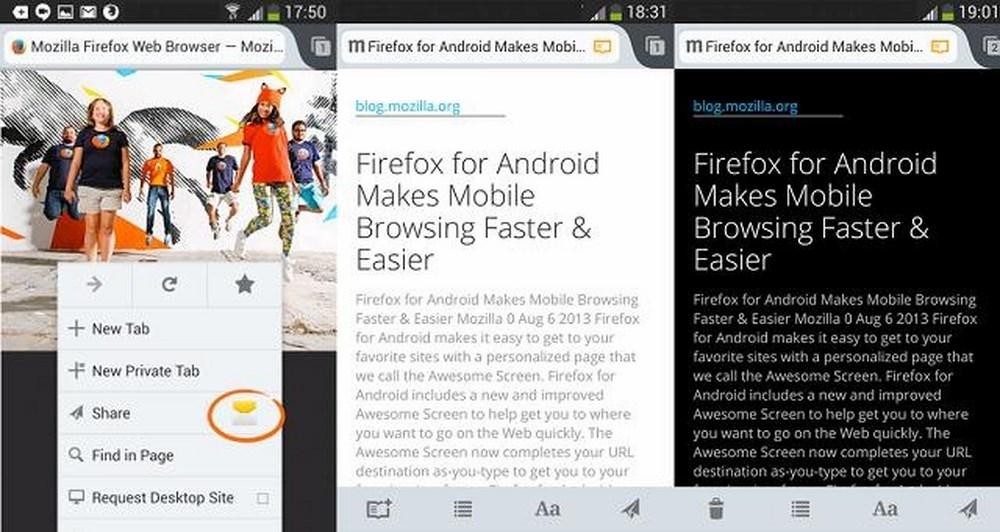 Quickshare: Το νέο χαρακτηριστικό του Firefox για Android