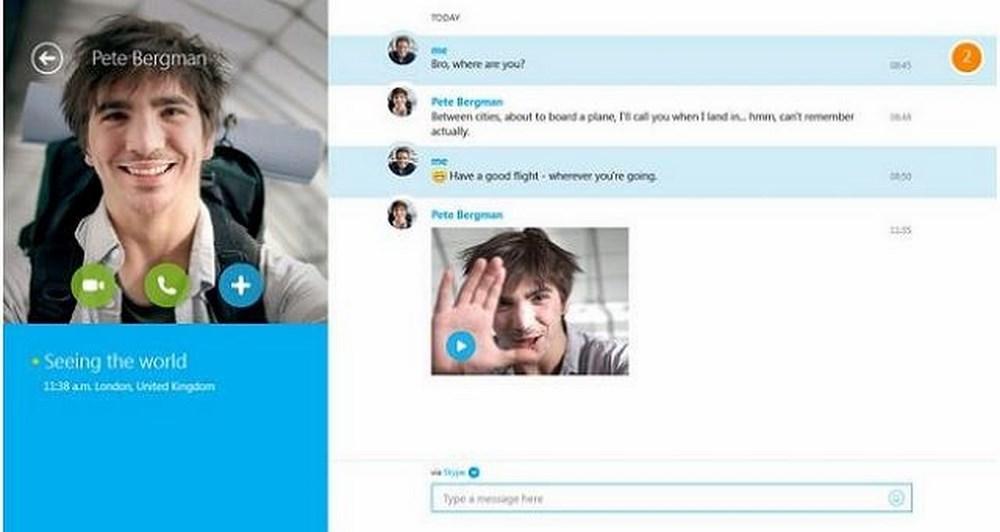To Skype με νέα χαρακτηριστικά στα Windows 8.1