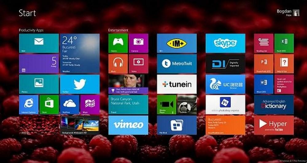 Τώρα, wallpapers και στην οθόνη έναρξης των Windows 8.1