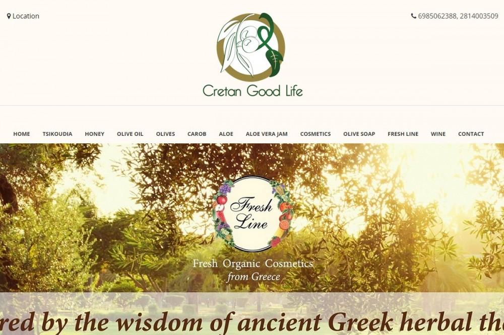 Concept ευφορίας Cretan Good Life