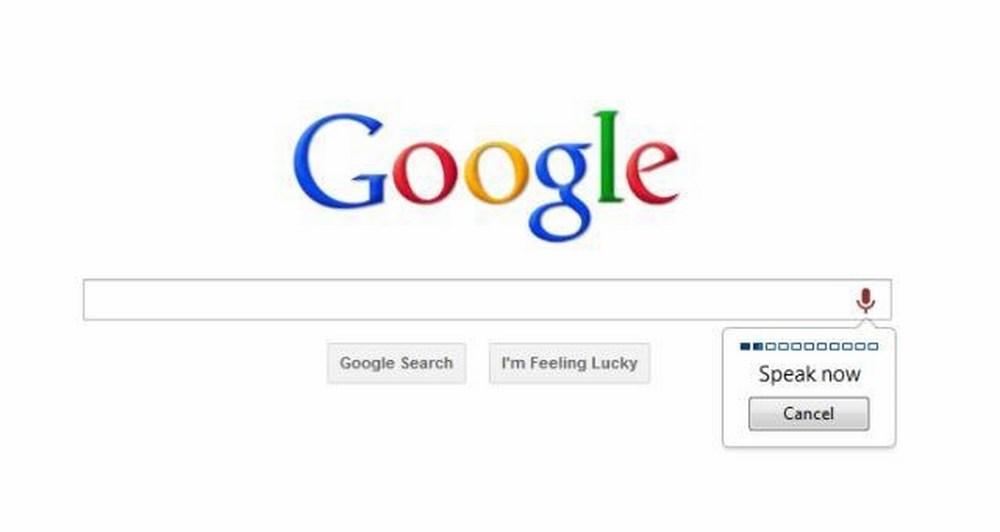 Αναγνώριση φωνής στην μηχανή αναζήτησης του Chrome