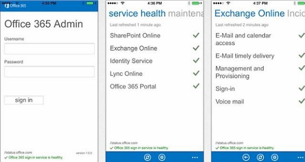 Το Office 365 Admin App διαθέσιμο τώρα στα iOs και Android