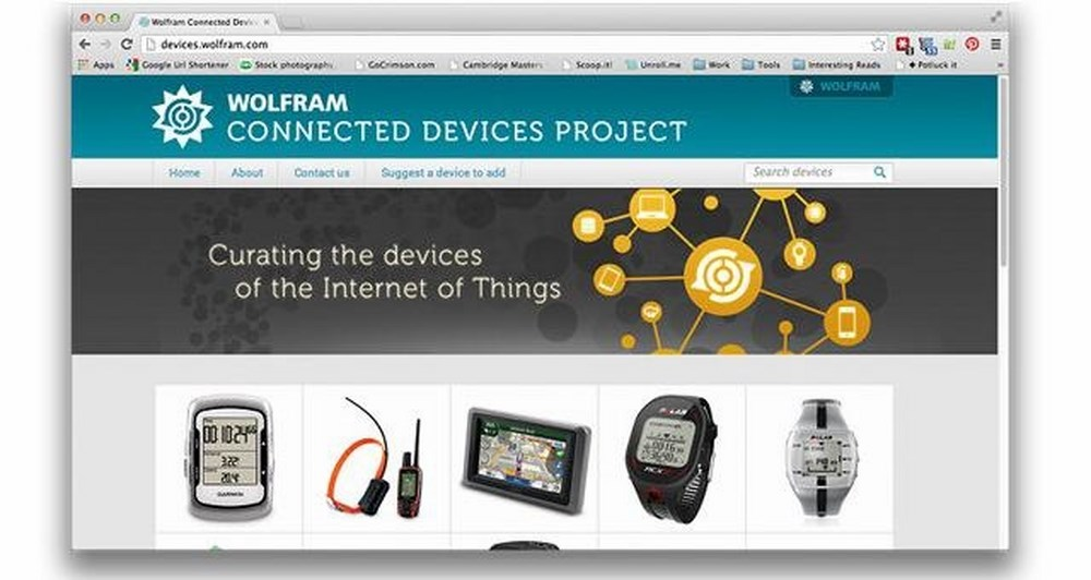 The Wolfram Connected Devices Project, βρες ότι θέλεις εύκολα και απλά