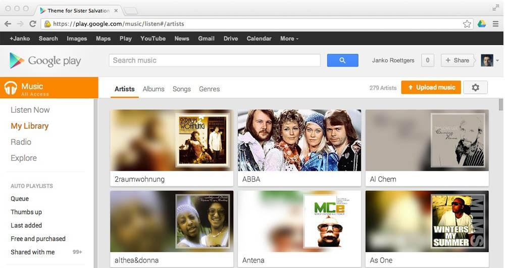 Google Music: Beta εφαρμογή για τον Chrome