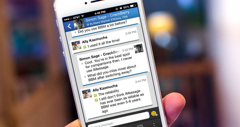 Νέα έκδοση BBM 2.0 για iOS και Android