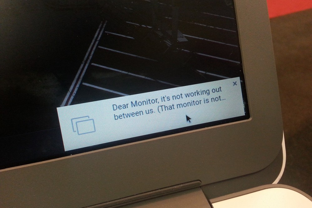 Dear Monitor, it's not working out between us...