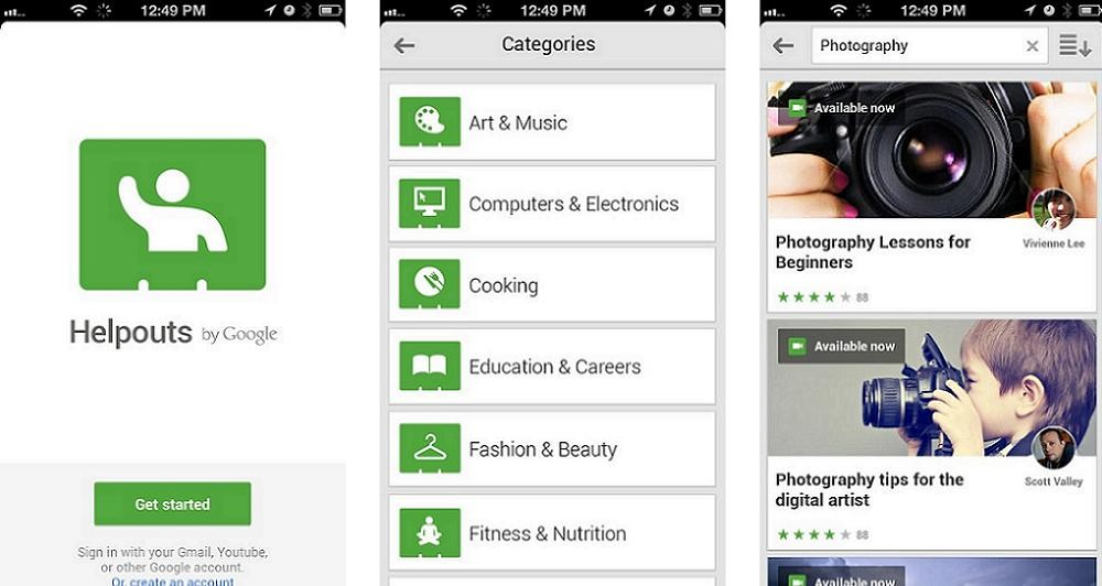 Το Helpouts App διαθέσιμο στα iOS