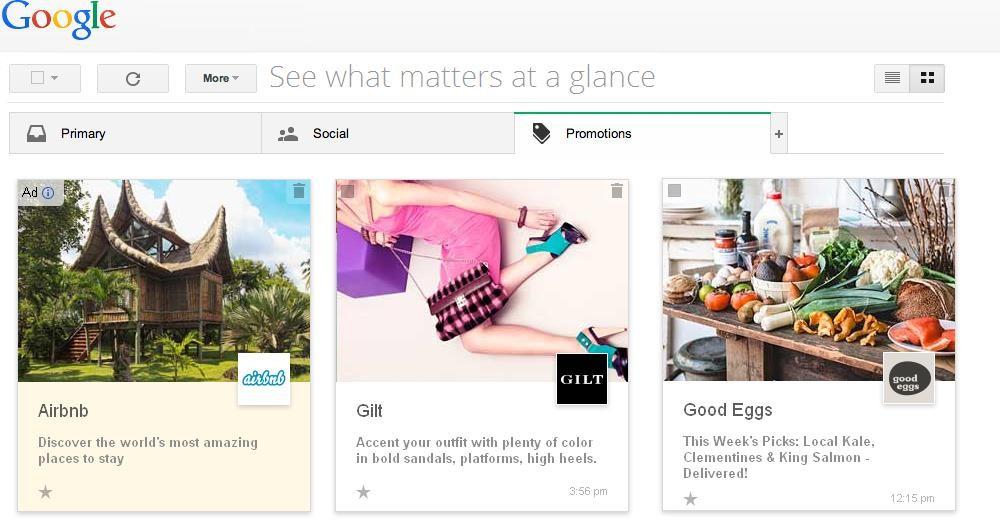 Gmail: Νέα εμφάνιση για την καρτέλα των προσφορών