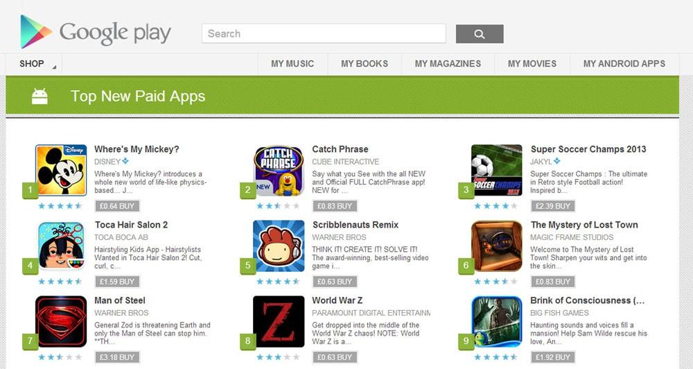 Google Play: Αλλάζει την εμφάνιση των εφαρμογών