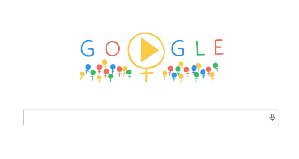 Η Google τιμά την παγκόσμια μέρα γυναίκας, 8 Μάρτη