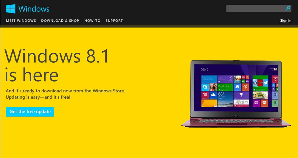 Διαθέσιμο το Windows 8.1 Update από σήμερα