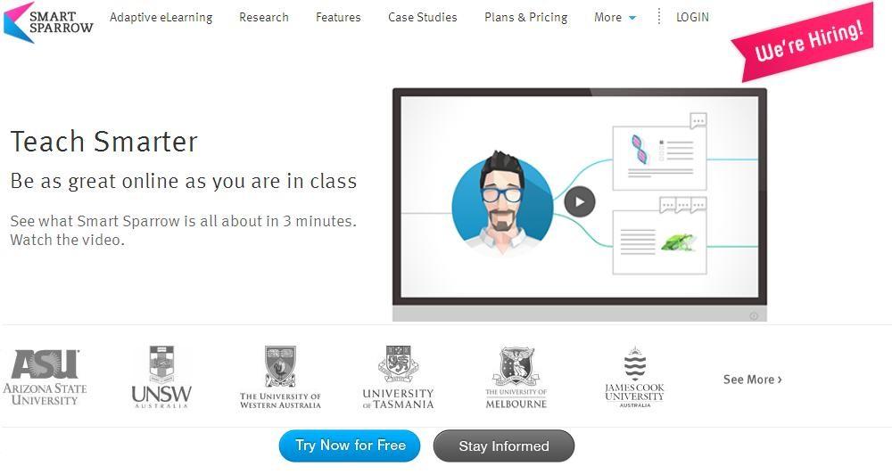 Smart Sparrow: Νέα online πλατφόρμα διαδραστικής εκπαίδευσης