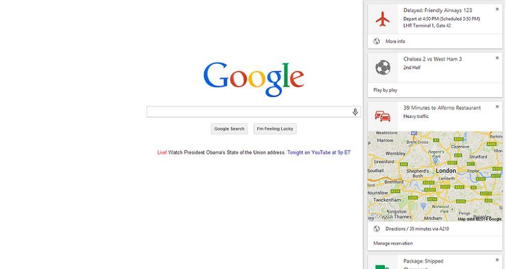 Το Google Now διαθέσιμο στο Chrome